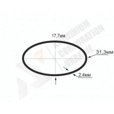Алюминиевая труба овальная <br> 31,3х17,7х2,4 - АН AP003OV-29 1