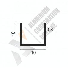 Алюминиевый швеллер П-образный профиль <br> 10х10х0,8 - АН АК-99995-17 1