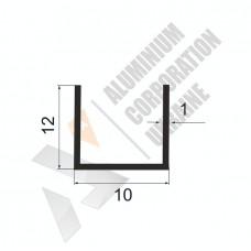 Алюминиевый швеллер П-образный профиль <br> 10х12х1 - АН 00535 1