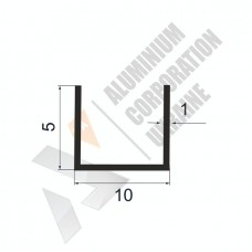 Алюминиевый швеллер П-образный профиль <br> 10х5х1 - АН АК-99994-15 1