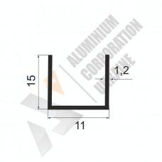 Алюминиевый швеллер П-образный профиль <br> 11х15х1,2 - АН АК-99997-29 1