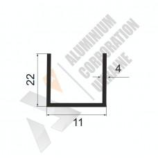 Алюминиевый швеллер П-образный профиль <br> 11х22х4 - АН A4814-31 1