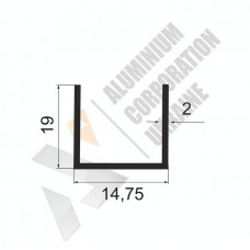 Алюминиевый швеллер П-образный профиль <br> 14,75х19х2 - АН АК-100010-87 1