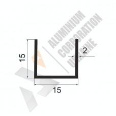 Алюминиевый швеллер П-образный профиль <br> 15х15х2 - АН 00539 1