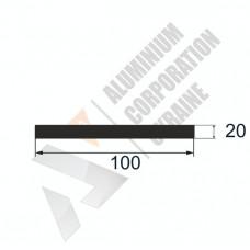 Аюминиевая полоса <br> 100х20 - АН AP002B-689 1