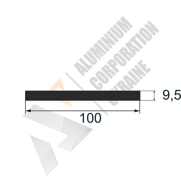 Алюминиевая полоса   100х9,5 - АН 26-0471