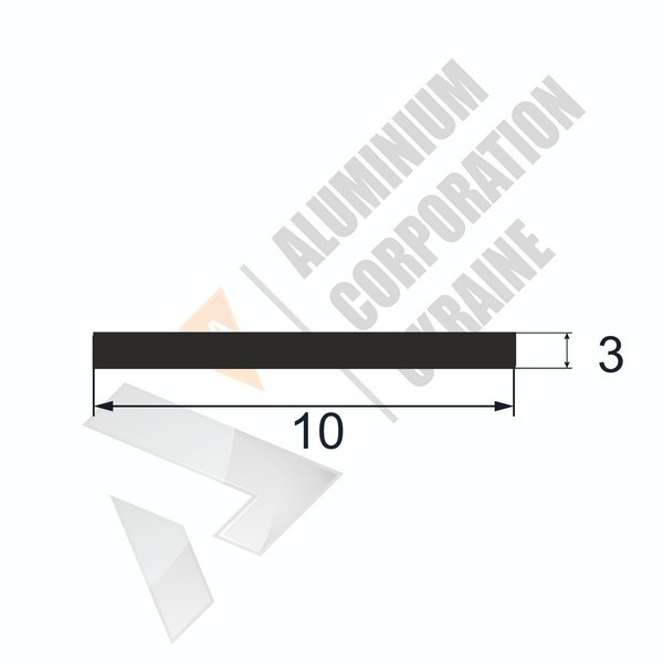 Алюминиевая полоса   10х3 - АН PI-902-18