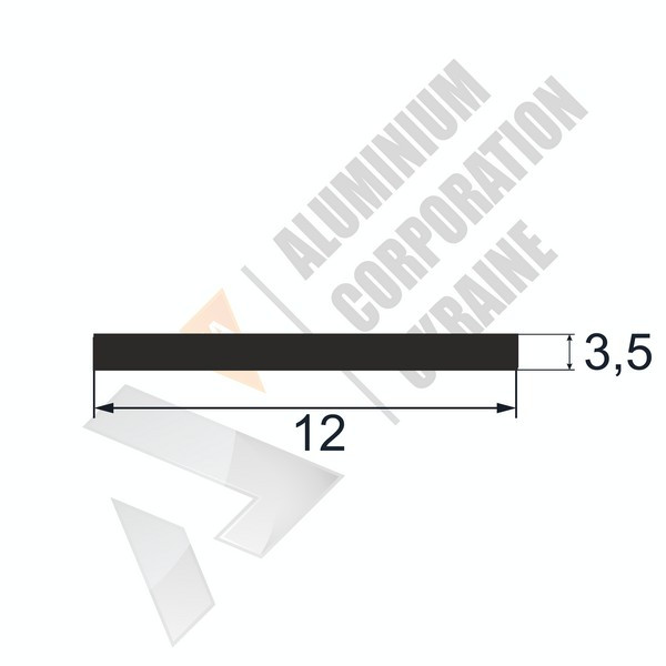 Алюминиевая полоса | 12х3,5 - БП ПАС-0819-47