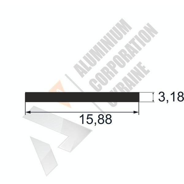 Алюминиевая полоса | 15,88х3,18 - АН SX-WM3500-102
