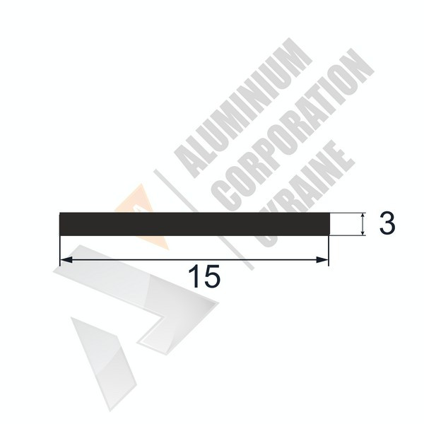 Алюминиевая полоса | 15х3 - АН 00599