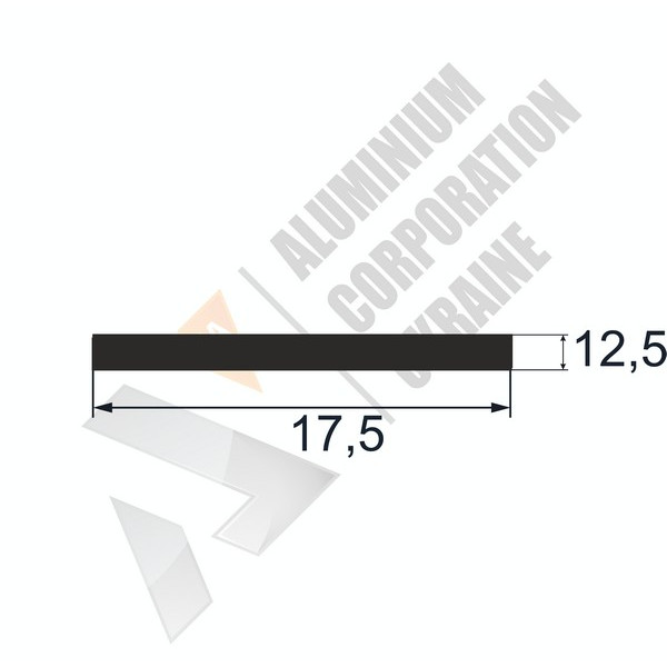 Алюминиевая полоса | 17,5х12,5 - АН АК-12359-118