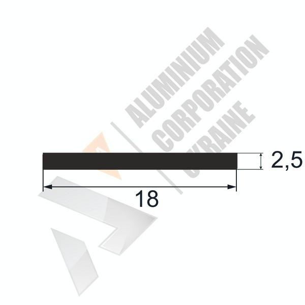 Алюминиевая полоса | 18х2,5 - БП 25-0067