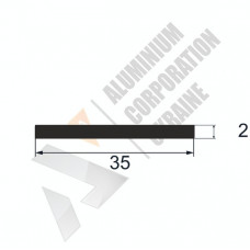 Алюминиевая полоса <br> 35х2 - АН 00581 1