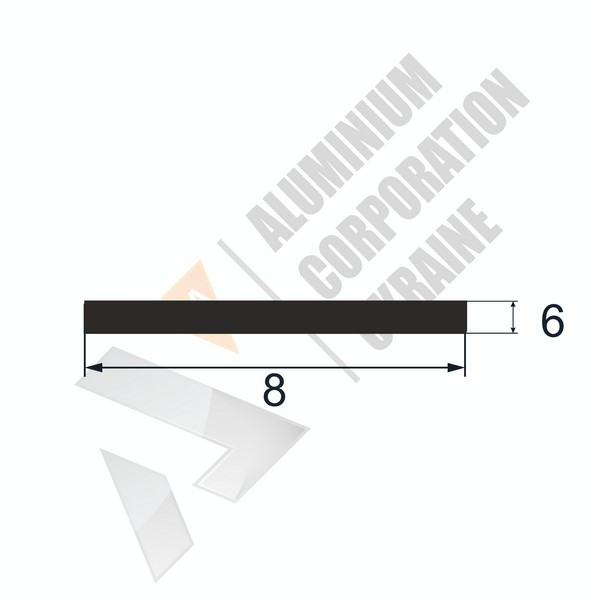 Алюминиевая полоса | 8х6 - АН 26-0006