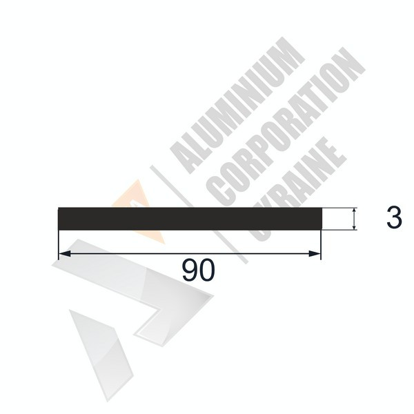 Алюминиевая полоса | 90х3 - АН 26-0444