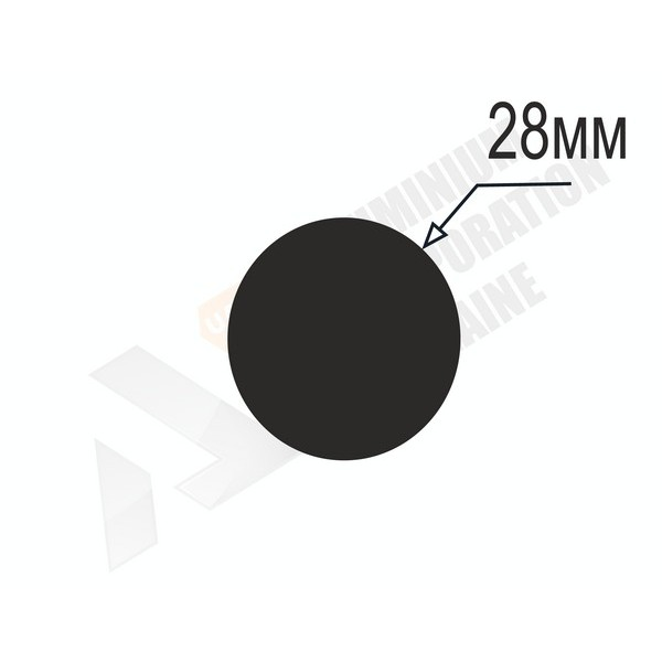 Алюминиевый пруток | 28мм - БП PL-1245-44