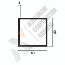 Алюминиевая труба квадратная <br> 80х80х3 - АН 00536 1