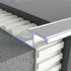 Алюминиевый профиль лестничный соединительный рифленый 39мм х 12мм 5406 1