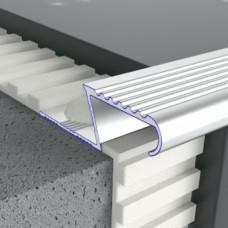 Алюминиевый профиль лестничный Z-образный рифленый 1,5мм х 14мм 5409 1