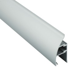 Алюминиевый плинтус со скрытым креплением 35 мм, выпуклый 3002 1