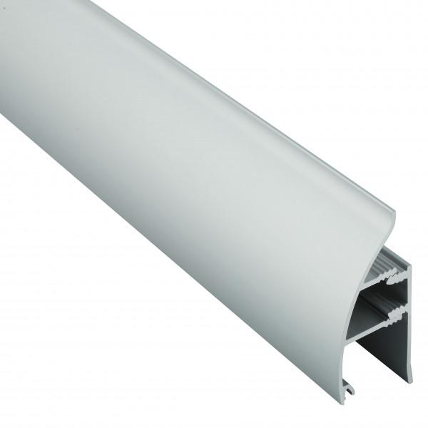 Алюминиевый плинтус со скрытым креплением 35 мм, выпуклый 3002