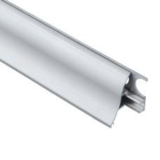 Алюминиевый плинтус со скрытым креплением 35 мм, выгнутый 3002 1