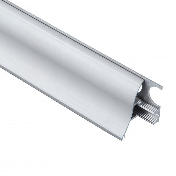 Алюминиевый плинтус со скрытым креплением 35 мм, выгнутый 3002