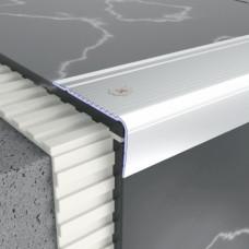Алюминиевый профиль лестничный 45мм х 22мм, рифленый 5304 1