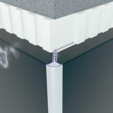 Алюминиевый профиль облицовочный для углового соединения под 45° 6102 1