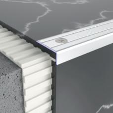 Алюминиевый порог профиль лестничный 24,5 мм х 10 мм 5301 1