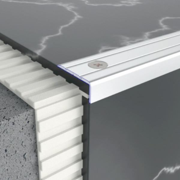 Алюминиевый порог профиль лестничный 24,5 мм х 10 мм 5301