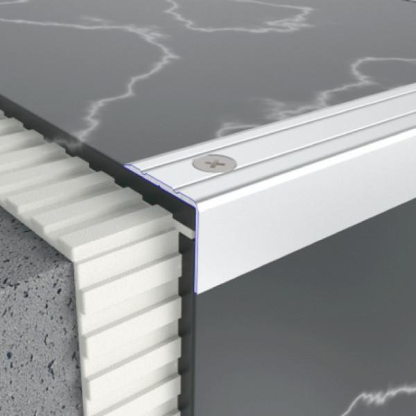 Алюминиевый порог рофиль лестничный 24,5 мм х 20 мм 5302