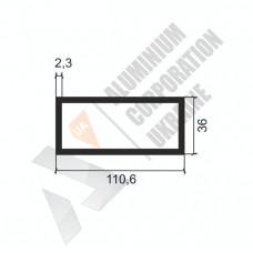 Алюминиевая труба прямоугольная <br> 110,6х36х2,3 - АН БПЗ-0243-1483 1
