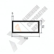 Алюминиевая труба прямоугольная <br> 110х70х5 - АН Б-1209-1481 1