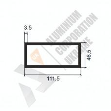 Алюминиевая труба прямоугольная <br> 111,5х46,5х3,5 - АН SX-155102-1485 1