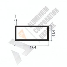 Алюминиевая труба прямоугольная <br> 117,4х41,4х4 - АН ПЗ-84-1489 1