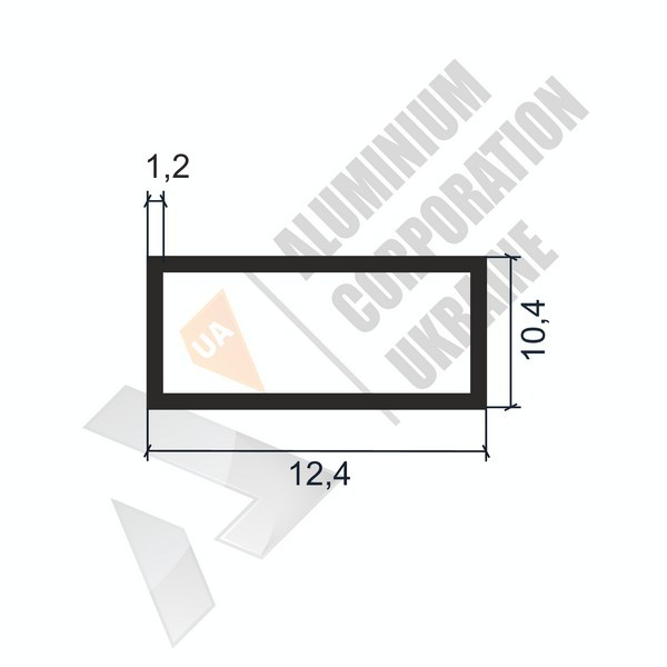 Алюминиевая труба прямоугольная | 12,4х10,4х1,2 - АН SX-QF004-10