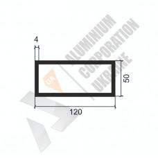 Алюминиевая труба прямоугольная <br> 120х50х4 - АН 8414-1527 1