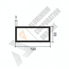 Алюминиевая труба прямоугольная <br> 120х65х3 - АН SX-120214-1559 1