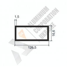 Алюминиевая труба прямоугольная <br> 126,5х16,6х1,5 - АН АК-1333-1569 1
