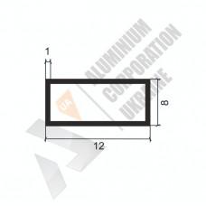 Алюминиевая труба прямоугольная <br> 12х8х1 - АН МАК-0013-05-2 1