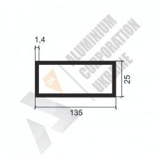 Алюминиевая труба прямоугольная <br> 135х25х1,4 - АН SX-GR6220-1577 1