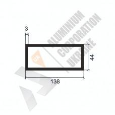 Алюминиевая труба прямоугольная <br> 138х44х3 - АН 9294-1581 1
