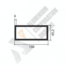 Алюминиевая труба прямоугольная <br> 139х45,2х6 - АН АА-094-1583 1