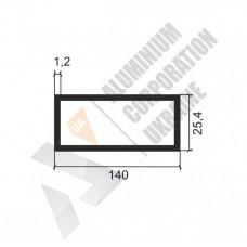 Алюминиевая труба прямоугольная <br> 140х25,4х1,2 - АН АК-1336-1587 1