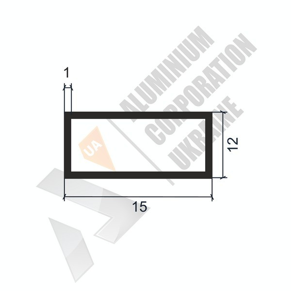 Алюминиевая труба прямоугольная | 15х12х1 - АН 06-0016