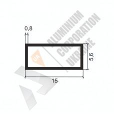 Алюминиевая труба прямоугольная <br> 15х5,6х0,8 - АН SX-15x5,6G-16 1