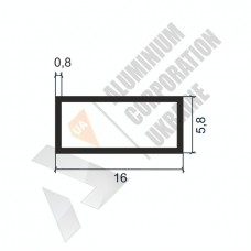 Алюминиевая труба прямоугольная <br> 16х5,8х0,8 - БП SX-16x5,8G-29 1