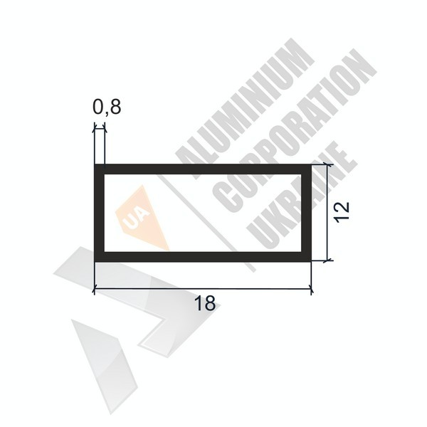 Алюминиевая труба прямоугольная | 18х12х0,8 - БП АК-1117-35