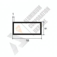 Алюминиевая труба прямоугольная <br> 18х6х1 - АН SX-NSF018-32 1